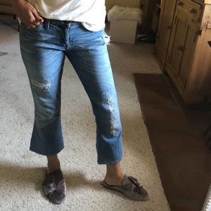 Current/Elliott The Bootcut Cropped Jeans